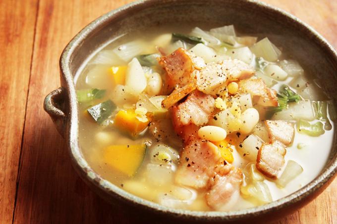 白花豆スープ
