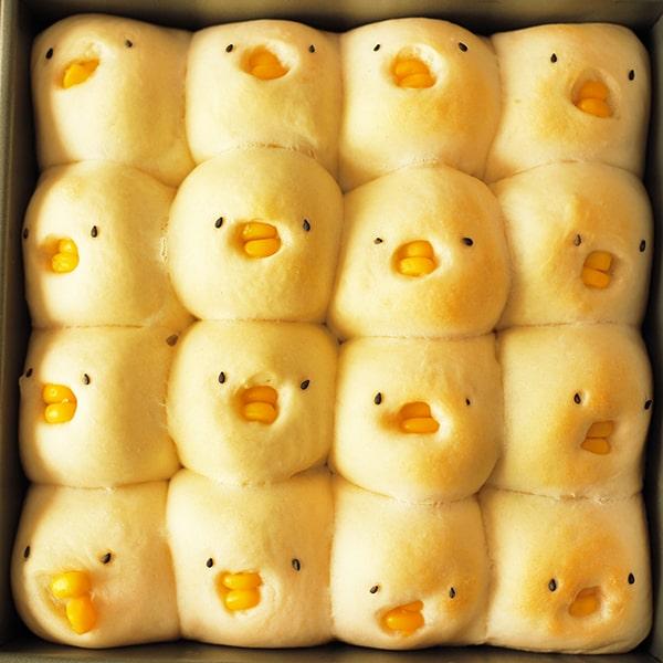 発酵後のひよこちぎりパン