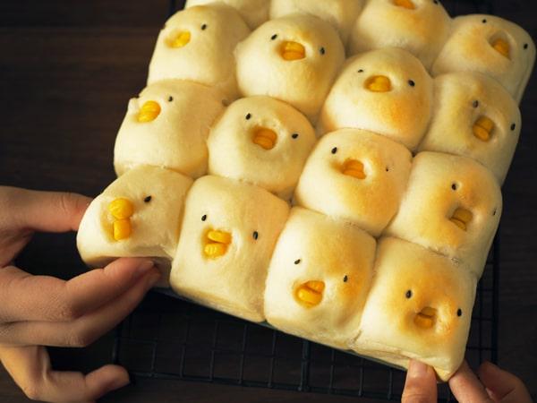 ちぎられるひよこちぎりパン
