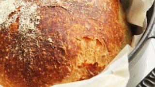 栗原はるみさんの「こねないパン」を作ってみた