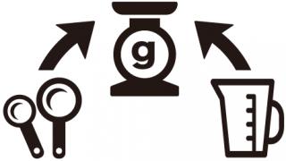 計量スプーン・計量カップのグラム換算表